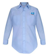 <br>(Men's USPS Letter Carrier Long Sleeve Shirt