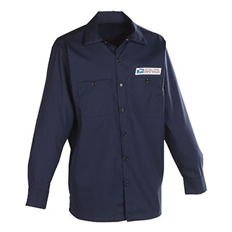 Postal Uniform Shirt Poplin Long Sleeve for Mailhandler and