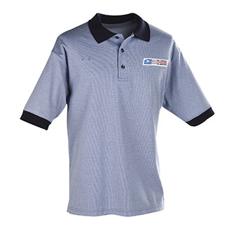Men's short sleeve postal pique knit polo with left chest po